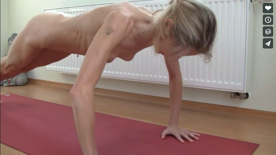 Nackt Yoga Video: Fitness Workout