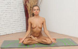 Nackt Yoga Lotus Pose