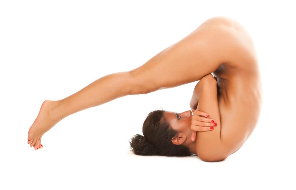 Nackt Pilates Aufwärmübungen