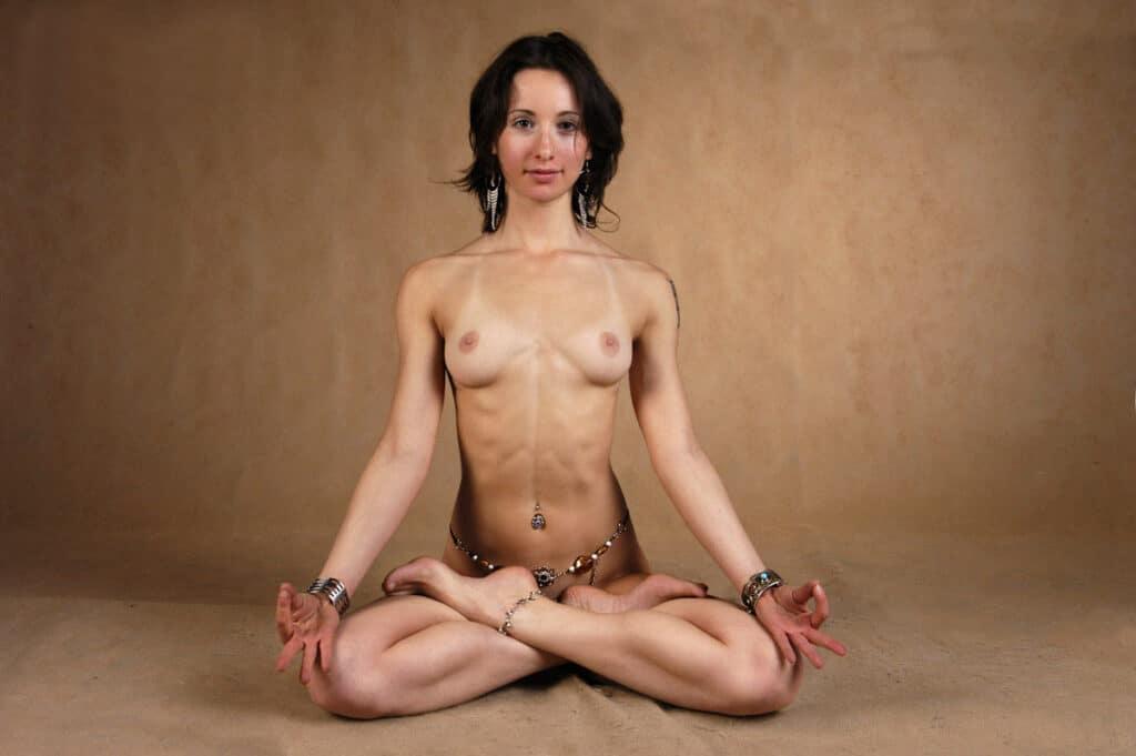 Nackt Meditation
